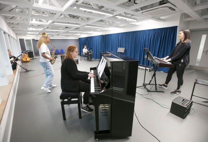 rcs-launches-new-creative-campus-learning-and-teaching-complex-2-pictured-are-musical-theatre-students-pic-julie-howden